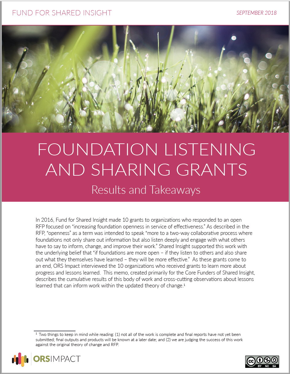 Knowledge - Fund for Shared Insight