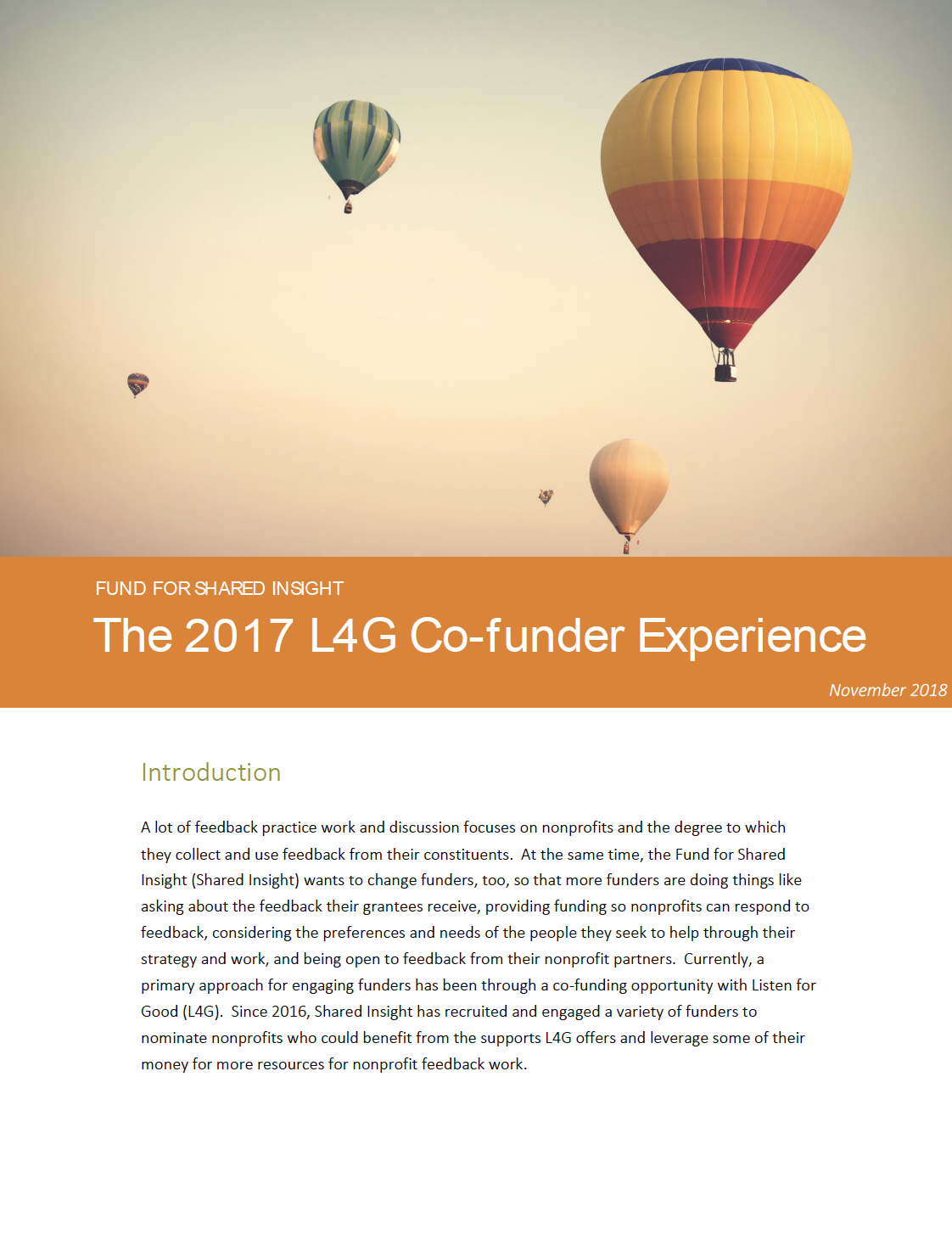 The 2017 L4G Co-funder Experience