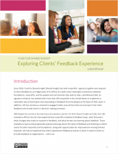 Pdf document of ORS report Exploring Client's Feedback Experience