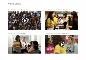 screenshot of video gallery